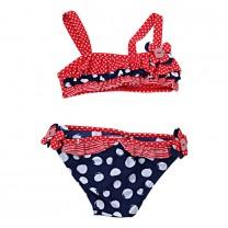 Navy & Red Polkadot Bikini