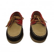Multicolor Suede Boat Shoes