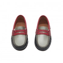 Red, Silver and Black Moccassins