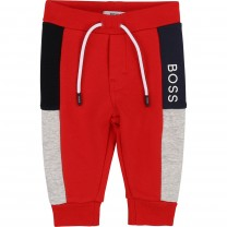 Boys Red Cotton Joggers