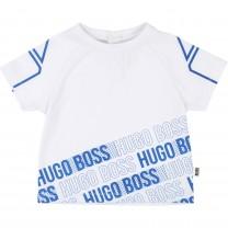 White Polycotton T-Shirt