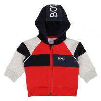 Red Cotton Zip-Up Jacket