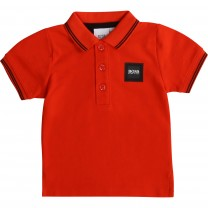 Red Square Logo Baby Polo Shirt