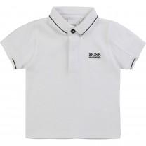 White Logo Baby Polo Shirt