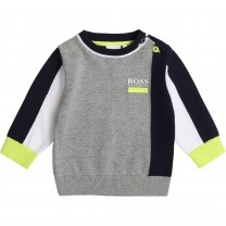 Grey and Black Logo Baby Sweater