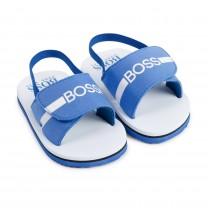 Blue Logo Sandal