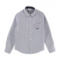 Grey Stripe Long Shirt