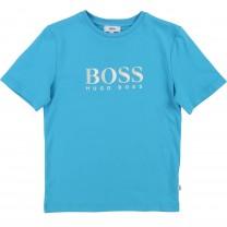 Turquoise  Cotton Logo T-Shirt