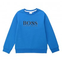 Blue Big Hugo Boss Branded Sweatshirt