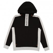 Black and Grey Contrast Hoodie
