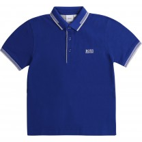 Navy Square Logo Polo Shirt (14 years)
