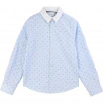 Blue Pattern Formal Shirt