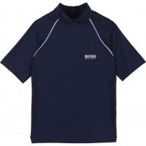 Navy Logo Cotton Shirt
