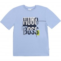 Baby Blue Graphic Logo T-Shirt