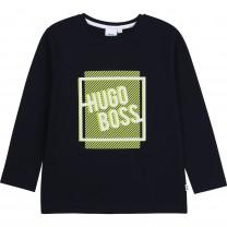 Navy Graphic Boss Logo T-Shirt