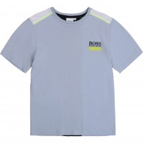 Baby Blue Panelled Logo T-Shirt