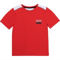 Red Panelled Logo T-Shirt