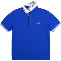 Electric Blue Classic Polo Shirt  (14 -16 years)