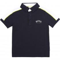 Black Logo Sporty Polo Shirt