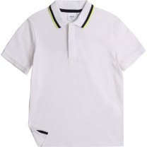 White Smart Logo Polo Shirt