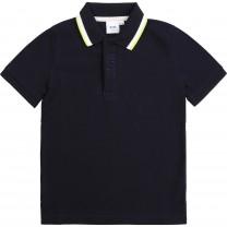 Navy Smart Logo Polo Shirt