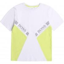 White and Yellow T-Shirt