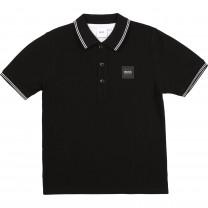 Black Square Logo Polo Shirt (14 -16 years)