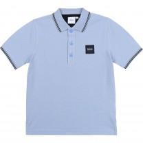 Baby Blue Square Logo Polo Shirt