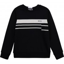 Black Stripe Logo Sweater (14 years)