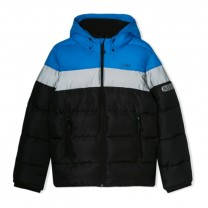 Multi-colored Contrast Puffer Jacket