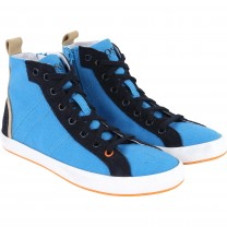 Turquoise Leather Trainers