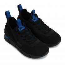 Black Sporty Logo Trainers