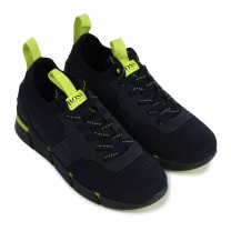 Navy Sporty Logo Trainers