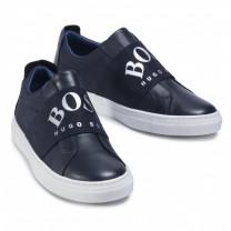 Navy Logo Slip On Shoes