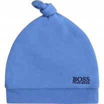 Blue Velour Baby Hat