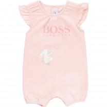 Baby Pink Logo Babysuit