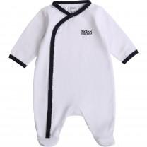 Black and White Logo Babygrow