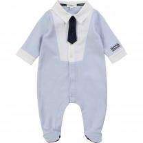 Baby Blue Shirt Babygrow