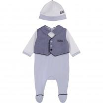 Blue Baby Boys Babygrow Gift Set