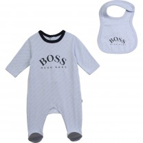 Blue Logo Babygrow Set