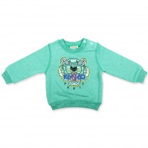 Mint Green Tiger Sweatshirt (2 - 10 years)
