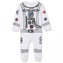 White Astronout Print Babygrow