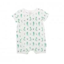 Green Seahorse Babysuit