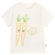Unisex Ivory Carrot Cotton T-Shirt