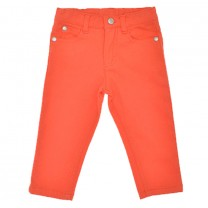 Orange Stretchy Long Pants