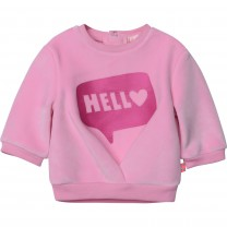 Velvet Hello Bubble Sweater
