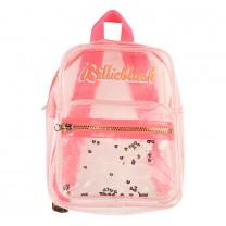 Pink Transparent Backpack