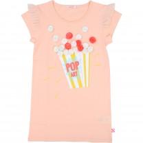 Light Pink Popcorn Tulle Detail Applique Dress
