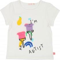 Lavender Im an Artist Multicolor T-Shirt