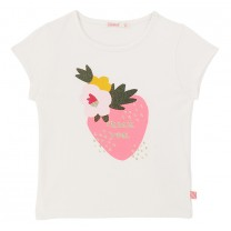 White Cotton Strawberry Top